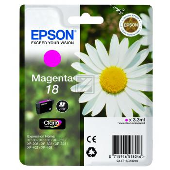 Epson Tintenpatrone magenta (C13T18034010, T1803)