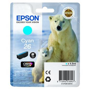 Epson Tintenpatrone cyan (C13T26124010, T2612)