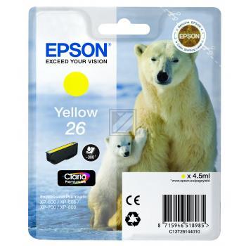 Epson Tintenpatrone gelb (C13T26144010, T2614)