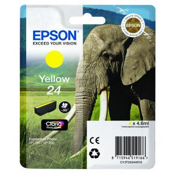 Epson Tintenpatrone gelb (C13T24244010, T2424)