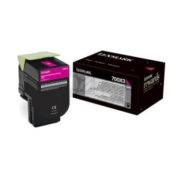 Original Lexmark 70C0X30 / NO700X3 Toner Magenta XXL