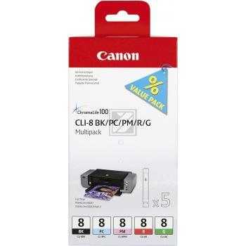 CANON Multipack Tintenpatronen BK/PC/PM/R/G CLI-8MUL