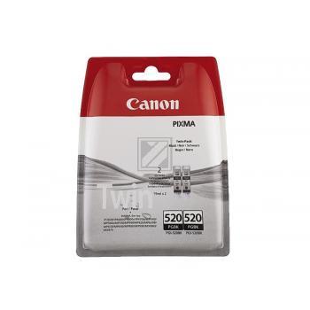 Canon Tintenpatrone Blister Blister 2x schwarz 2-er Pack (2932B012, 2x PGI-520PGBK)