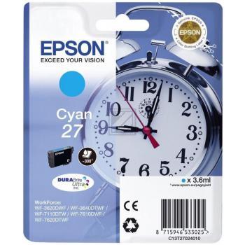 Epson Tintenpatrone cyan (C13T27024010, T2702)