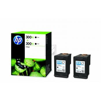HP 300XL Original Ink Cartridge black 2x 600 Pages Dual-Pac D8J43AE