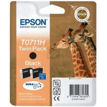 Epson Tintenpatrone 2x schwarz (C13T07114H10, T0711H)