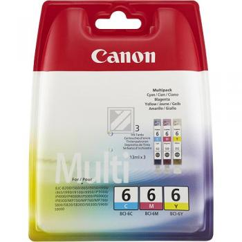 Canon Tintenpatrone gelb cyan magenta (4706A029, BCI-6EC BCI-6EM BCI-6EY)