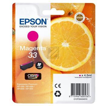 Epson Tintenpatrone magenta (C13T33434010, T3343)