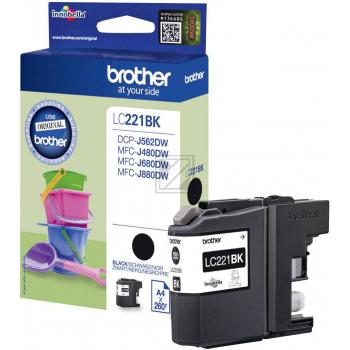 Brother Tintenpatrone schwarz (LC-221BK)