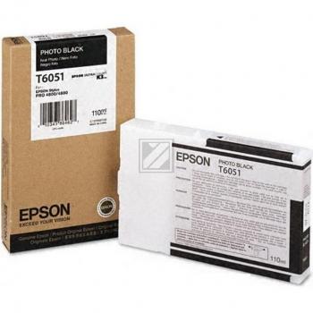 Epson Tintenpatrone Photo-Tinte Ultra Chrome K3 Photo schwarz (C13T564100 C13T605100, T6051)