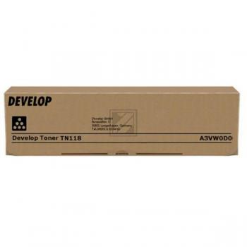 Original Develop A3VW0D0 / TN-118 Toner Schwarz 2er Set