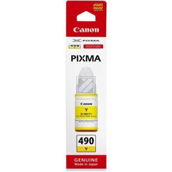 Canon Tintennachfüllflasche GI-490 yellow 0666C001