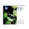 HP Druckkopf + Tintenpatrone cyan, schwarz matt (P2V35A, 91)