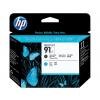 HP 91 | 775ml | Combopack 2er Set, HP Tintenpatronen, mat schwarz und cyan