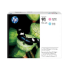 HP 91 | 775ml | Combopack 2er Set, HP Tintenpatronen, light magenta und light cyan