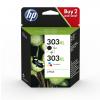 HP Tintendruckkopf cyan/gelb/magenta, schwarz HC (3YN10AE, 303XL)