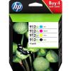 HP 912XL | Combopack 4er Set, HP Tintenpatrone mit hoher Reichweite, schwarz, cyan, magenta und gelb