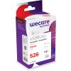 WECARE CLI526PA | Combopack 3er Set, WECARE Tintenpatronen, cyan, magenta und gelb