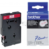 BROTHER TC292 | 9mm | Länge 7.7m, BROTHER Schriftband Druckfarbe rot, Bandfarbe weiss