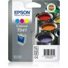 Epson Tintenpatrone cyan/gelb/magenta (C13T04104010, T041)