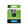 Dymo 43610 / S0720770 D1-Band 6mm schwarz auf Transparent
