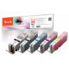 WECARE PGI550XL | CLI551XL | Combopack 5er Set, WECARE Tintenpatronen, schwarz, schwarz, cyan, gelb, magenta