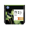 HP 72 | 130ml | Combopack 2er Set, HP Tintenpatronen, schwarz